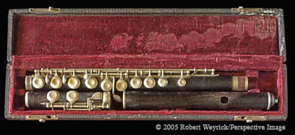 Robert Weyrick/Perspective Image--100 year old flute